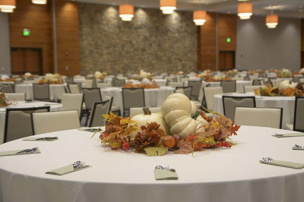 Ramsey Center Autumn Banquet Setup